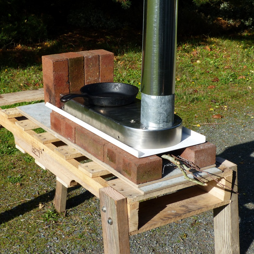Horizontal Rocket Stove