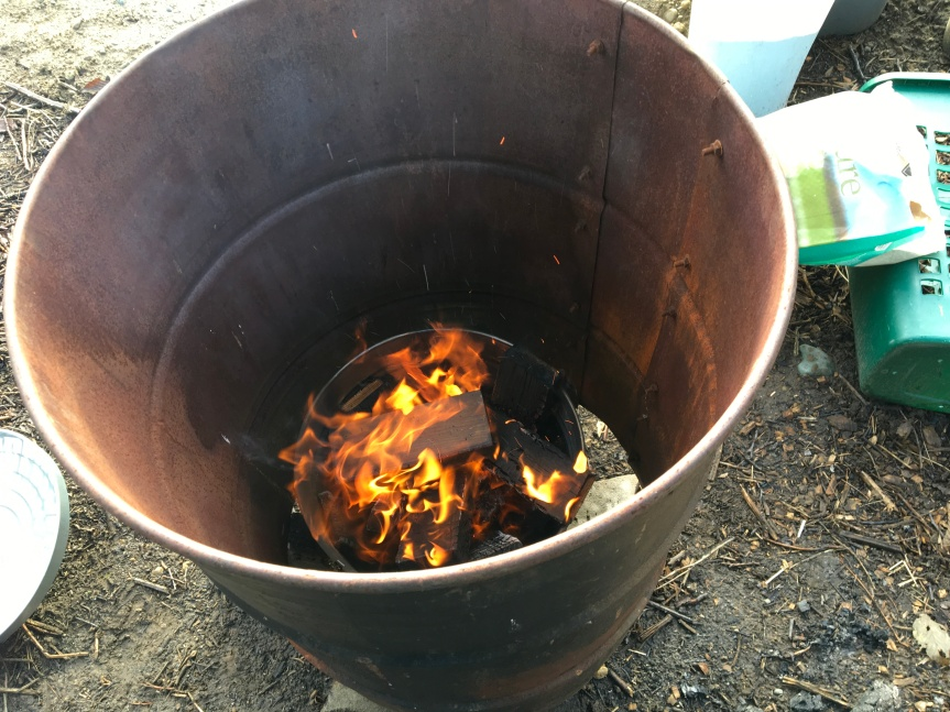 Open Top Flame Cap Biochar Kiln – Second Design