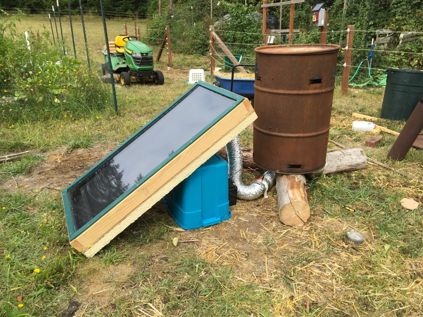 Solar Heated Compost Pile