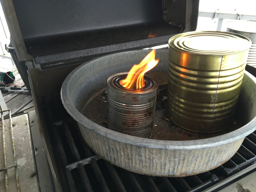 Making Biochar with a Gasification stove.